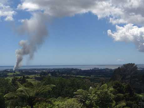 Katikati fire. Photo supplied by Philip Cranston from Katikati