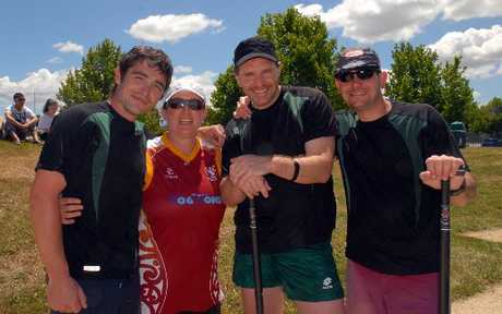 TEAM SPIRIT: The Department of Conservation team, Doctopus, of Wellington. From left Kris Ramm, Miranda Lintott, Heiko Philippi, and Jon Williams.