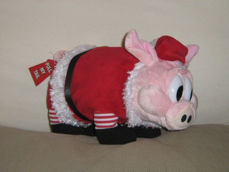 This Christmas pig was stolen from Hog&#39;s Breath Cafe in Hervey Bay.
