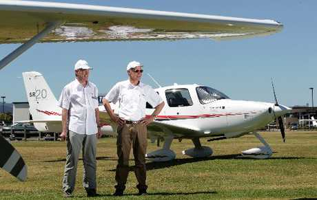 Angel Flight pilot Jack Schulte and founder Lance Weller look forward to setting up the charity service in Tauranga - flying sick children to medical appointments out of town free. Photo / John Borren