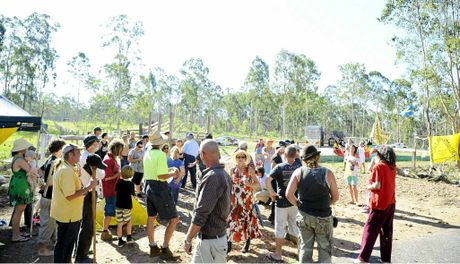 PASSIONATE: The CSG protesters at Glenugie.