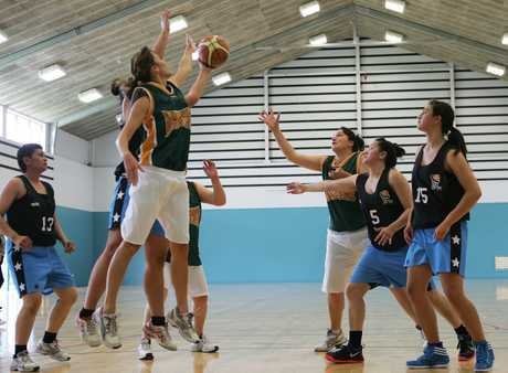 HIGH TIMES: Action from the Muriwhenua vs Bucks women's basketball game in Whangarei on Saturday.