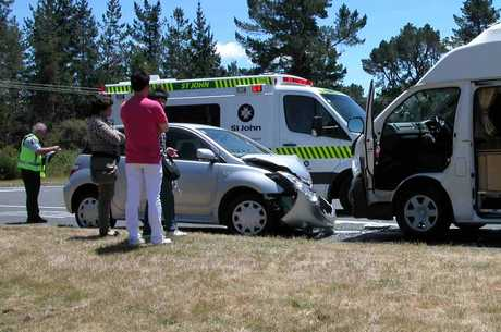 The scene of a crash on State Highway 1, near Taupo.