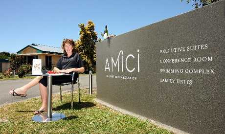 SHINY: Janice McKain at the brand new Amici Motel on Pakowhai Rd in Hastings, which had gone into liquidation as the Aparima Motor Lodge. PHOTO/GLENN TAYLOR HBT124630-01