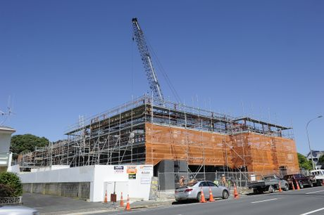 Tauranga police station under construction.