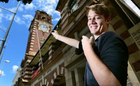 16-year-old Luke Bertwistle of Eastern Heights celebrated his birthday on Wednesday (12-12-12) and marked the occasion with a photograph beneath the Ipswich Post Office clock tower at 12:12pm.