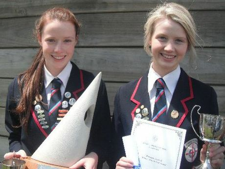 2012 Dux Charlotte Smith and her twin sister Brittany Smith, Proxime Accessit.