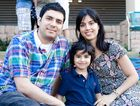 FAMILY FUN: Aresh Payervand, Arya Payarvand and Sayeh Pooya.