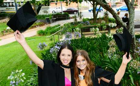 NURSING AMBITION: Nursing students Francesca McLeod and Amy Gibson.