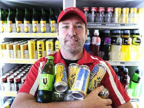 Justin Beaufill of Big Bake has donated $7500 worth of drinks products to the Tauranga Community Foodbank. Photo / George Novak