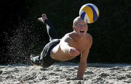 Sam O&#39;Dea will join forces with fellow Tauranga beach volleyballer Kirk Pitman on the World Tour in 2013. Photo / John Borren