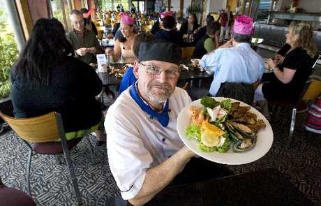 Skyline Cableway Restaurant executive chef Fred Kreutmayer shows what sort of menu you can expect at Skyline this Christmas. Photo / Ben Fraser