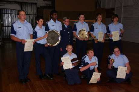 The 48 Squadron Air Training Corps' prize-giving in Stratford.