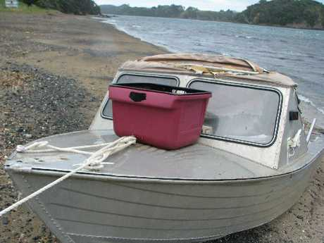 A small tinnie boat was swum ashore a few weeks ago and police are looking for it's owner.