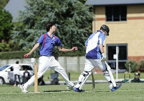 Bethlehem College bowler Dylan Wadsworth took three wickets in the loss to Trident High School. Photo / George Novak 