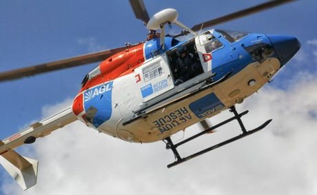 AIRLIFTED: A 20-year-old Murphys Creek man has been airlifted to a Brisbane hospital with spinal injuries sustained in a water slide accident.