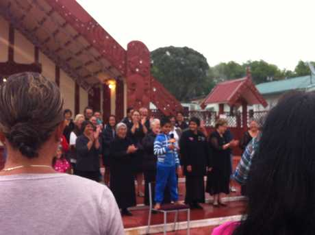 Rotorua residents take part in Tamati Coffey's farewell stop in Ohinemutu