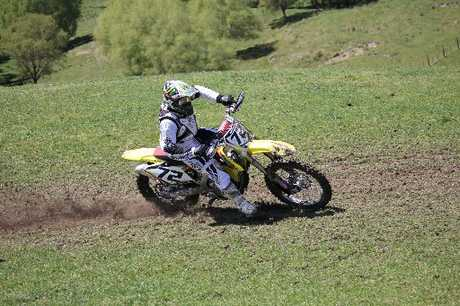 Mark Fleming won the MX 1 class at the Hawke's Bay Motocross Interclub Challenge.