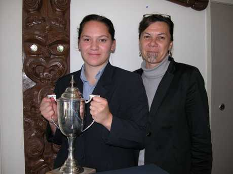 HIGH ACHIEVER: Tongariro School dux Raven Nere Taewa-Young pictured with mentor and teacher Grace Marsh.