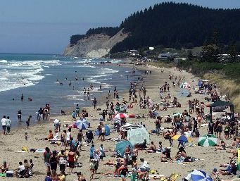 Cars have been banned on Waimarama beach this summer