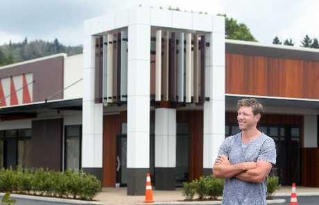 Rotorua's Tony Bradley is looking forward to seeing his Redwood Centre shopping complex finished. Photo / Ben Fraser