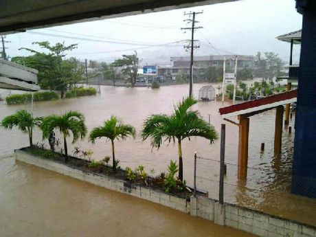 SCENE OF DEVASTATION: Cyclone Evan has caused widespread flash floods in Samoa.