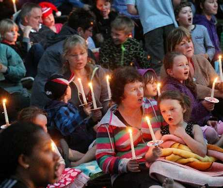 Carols by Candlelight in Kuirau Park on Friday night.
