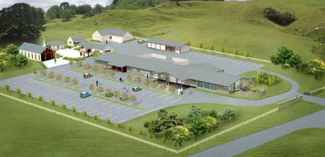 VISION: When finished, Gray's Funeral Services next to Kauae Cemetery will have two chapels, a whanau room and quiet areas.