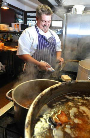 Head Chef at Stumps Hotel Jamie Pearce has had a varied and distinguished career before joining the Ipswich business. Photo: Rob Williams / The Queensland Times