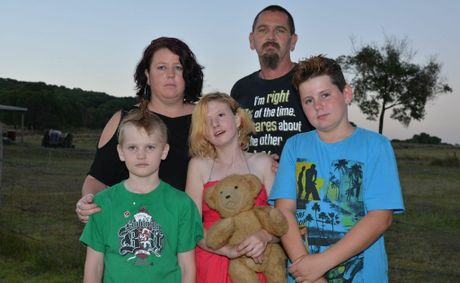 DEVASTATED: Melissa and James Saly with their children, Jarrad, Ashley and Jayden.