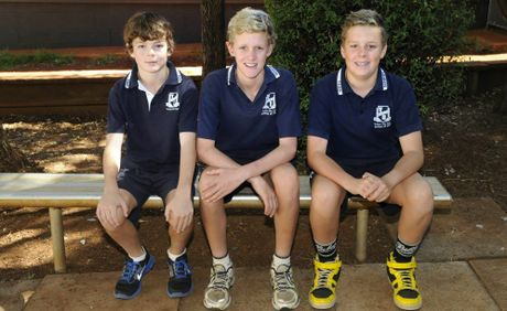 After seven years of schooling, Luke Douglas, Eric Rattray and Finn Collison finished up school for 2012.