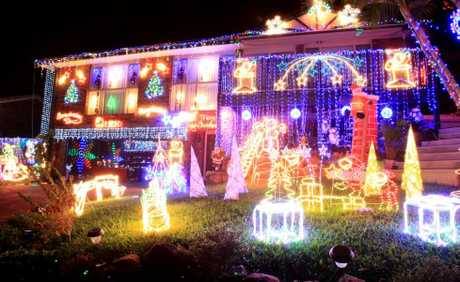 Chirstmas Lights- A spectacular display in Toolona drive in Banora Point Photo Blainey Woodham / Daily News
