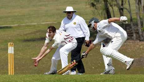 QUICK RETURN: Laidley run-scoring machine Mick Sippel makes his ground during last weekend's Premier League match against Centrals. Sippel remained 117 not out.