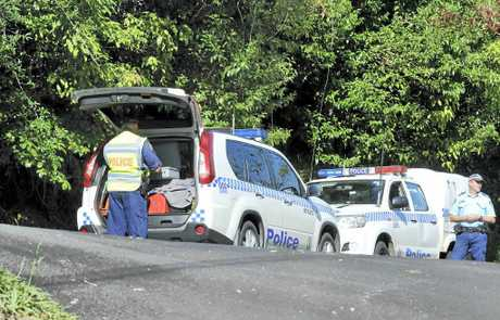 TRAGEDY: The scene of an accident on Donnans Road, Lismore Heights, where a woman was killed.