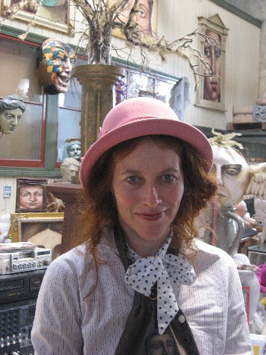 A LOOK INSIDE LIVES: Donna Demente is part of the quirky and colourful Oamaru Nosey Parkers tour of homes, gardens and studios. PHOTO/JACQUIE WEBBY