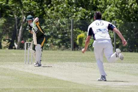 Central Cricket Club will be relying on their bowlers for a big result against Tauranga Boys' College tomorrow. Bowling is Central's Andrew Gibbs. Photo / Andrew Warner