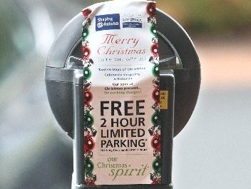 Two-hour free parking in the central city was introduced yesterday and runs until December 24. Photo  / Ben Fraser