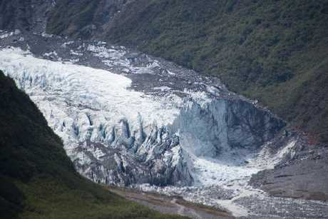 Fox Glacier is one of the world's climate change indicators