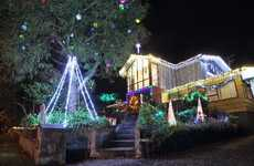 LIGHT HOUSE: The lights at 58 Blomfield St can be seen from halfway down the road, with the Star of David guiding visitors to the home. The house was one of the top 20 in the Christmas Lights Trail and its prize money will be given to Aorangi Primary School.