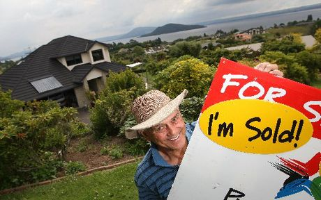 MOVING ON: Alf Stanley sold one Rotorua house and bought another in November - a busy month for the city's real estate agents.