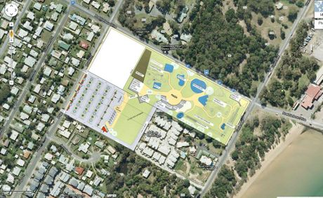 The proposed Splash Bay development is in a suburban neighbourhood in Urangan.