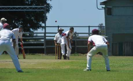 Jake Kroehnert bowls for Brothers in their CRCA Premier League cricket match against Westlawn at Ulmarra on Saturday.