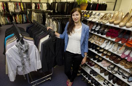 Dress for Success volunteer Kate Julian helps give women confidence.