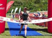Graham O'Grady from Kinloch continued a stunning start to the summer of triathlon with his third victory in quick succession at the Contact Tri Series Rotorua race on Saturday.