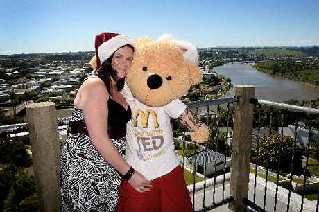 Me and Ted: Former Wanganui girl Toni Hopkinson back with Ted1, aka Jeff, on a tour to take her bear all over the region on Saturday.