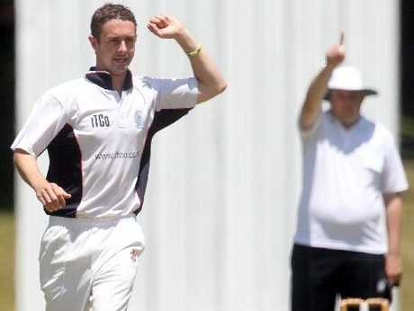 Central&#39;s Ben Blackett celebrates taking a wicket in his team&#39;s victory over Tauranga Boys&#39; College. Photo / Stephen Parker