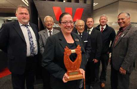 TAONGA: Westpac staff and Ngati Whakaue representatives were involved in a powhiri to welcome a taonga given to the bank for its win at the Maori Language Awards.