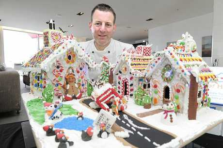 Trinity Wharf executive chef Simon Green has created a gingerbread village to be auctioned off for Homes of Hope