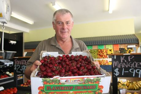 IN SEASON: Stanthorpe Fruit Barn's Mick Andreatta said whenever he can he will stock his store locally grown produce. Photo Daniel Elliott / Stanthorpe Border Post