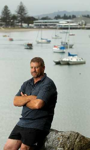 Tauranga commercial fisherman Mike Antrobus pictured at Pilot Bay.